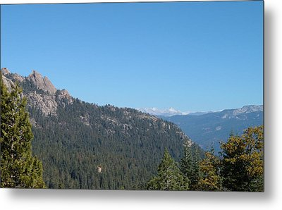 Sierra Nevada Mountains 3 Metal Print by Naxart Studio
