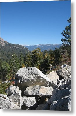 Sierra Nevada Mountains 4 Metal Print by Naxart Studio