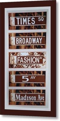 Signs Of New York Metal Print by Rob Hans