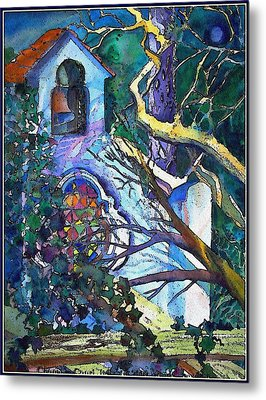 Silence At St. Michel Chapel In Capri Italy Metal Print by Mindy Newman