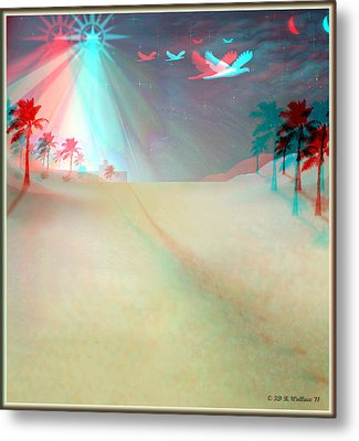Silent Night - Red And Cyan 3d Glasses Required Metal Print by Brian Wallace