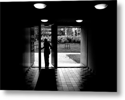 Silhouette Of A Man Metal Print by Fabrizio Troiani