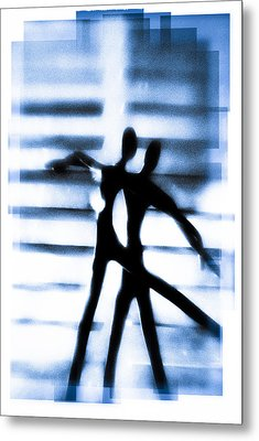 Silhouette Of Dancers Metal Print by David Ridley