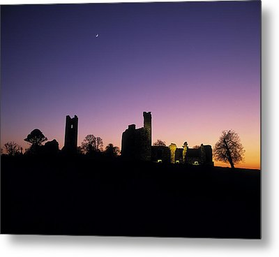 Silhouette Of St. Patricks Church And A Metal Print by The Irish Image Collection