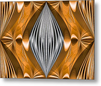 Silver Marquise Engagement Metal Print by Kristin Elmquist