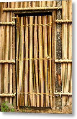 Simple Bamboo Door Metal Print by Yali Shi