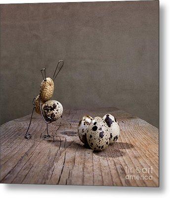 Simple Things Easter 03 Metal Print by Nailia Schwarz