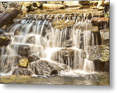 Simple Yet Powerful Waterfall Metal Print by Daphne Sampson