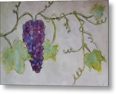 Simply Grape Metal Print by Heidi Smith