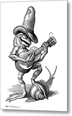 Singing Frog, Conceptual Artwork Metal Print by Bill Sanderson