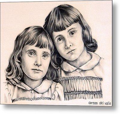 Sisters Metal Print by Carmen Del Valle
