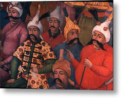 Six Sultans In Iran Metal Print by Carl Purcell