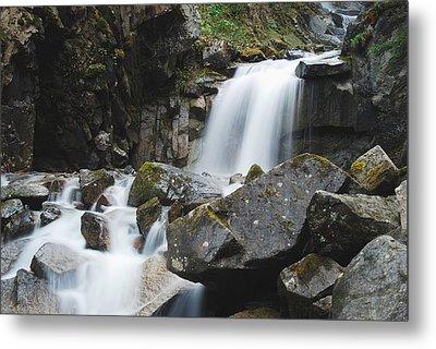 Skagway Waterfall 8619 Metal Print by Michael Peychich