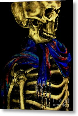 Skeleton Fashion Victim Metal Print by Tylir Wisdom