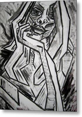 Sketch - Intrigued Metal Print by Kamil Swiatek