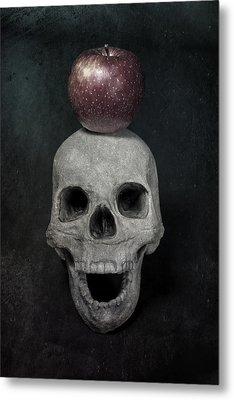 Skull And Apple Metal Print by Joana Kruse