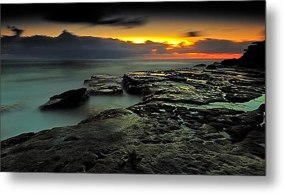 Sky Of Fire Metal Print by Mark Lucey