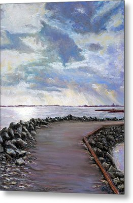 Sky Shore A Metal Print by Bob Northway