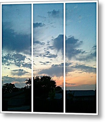 #sky #sunset #clouds #andrography Metal Print by Kel Hill