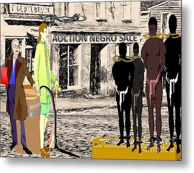 Slave Auction Metal Print by Belinda Threeths