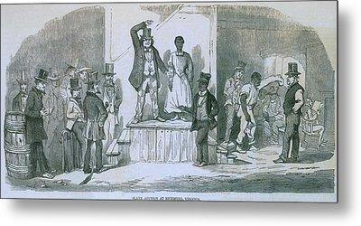 Slave Auction In Richmond, Virginia Metal Print by Everett