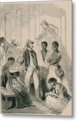 Slave Market In The United States Metal Print by Everett