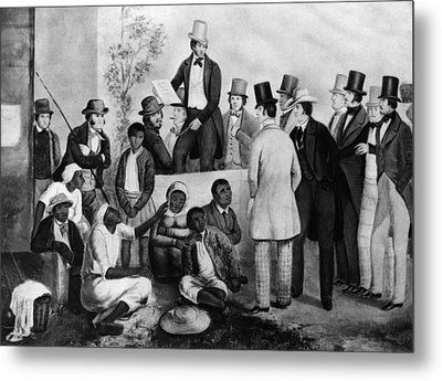 Slavery Auction, In The United States Metal Print by Everett
