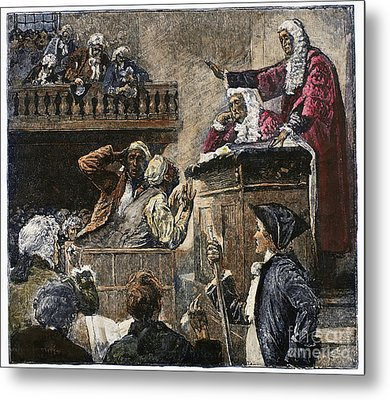 Slaves In Court, 1741 Metal Print by Granger