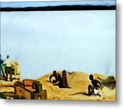 Slaves Waiting For Ship Metal Print by Belinda Threeths