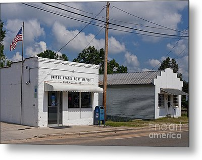 Small Town Post Office Metal Print by Will & Deni McIntyre