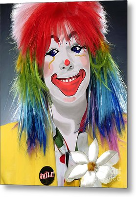 Smiling Clown Metal Print by Methune Hively