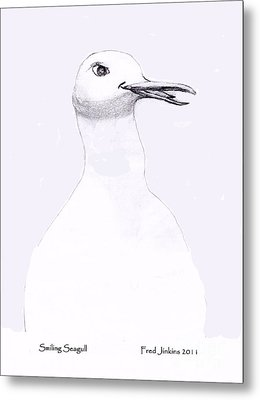 Smiling Seagull Metal Print by Fred Jinkins