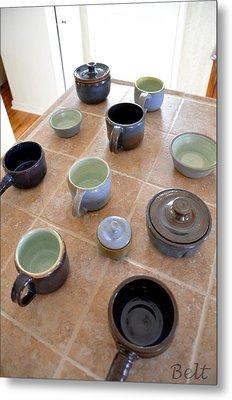 Snickerhaus Pottery Metal Print by Christine Belt