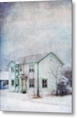 Snow Flurry 'round My Neighbor's House Metal Print by Priska Wettstein