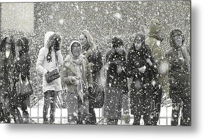 Snow In City Metal Print by Yury Bashkin