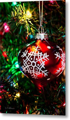 Snowflake Ornament Metal Print by Christopher Holmes
