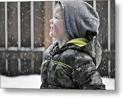 Snowflake Thoughts Metal Print by Gwyn Newcombe