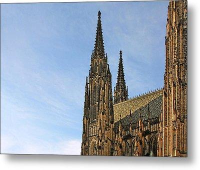 Soaring Spires Saint Vitus' Cathedral Prague Metal Print by Christine Till