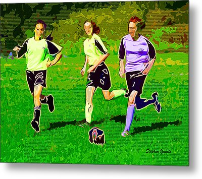 Soccer Metal Print by Stephen Younts