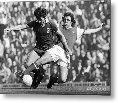 Soccer Tackle, 1976 Metal Print by Granger