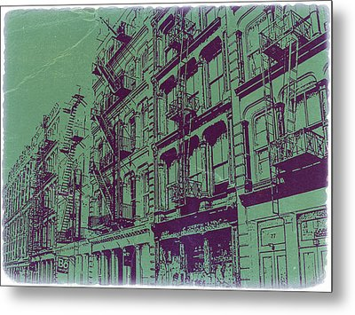 Soho New York Metal Print by Naxart Studio