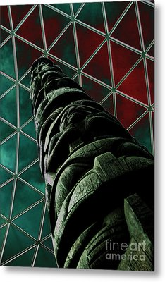Solarised Totem Pole Metal Print by Urban Shooters