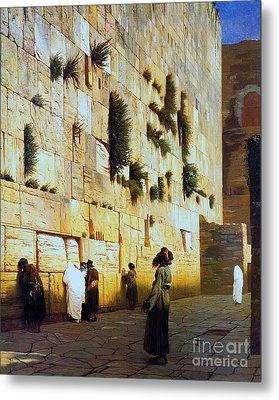 Solomon's Wall  Jerusalem Metal Print by Pg Reproductions