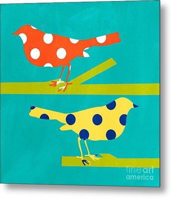Song Birds Metal Print by Linda Woods