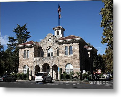 Sonoma City Hall - Downtown Sonoma California - 5d19266 Metal Print by Wingsdomain Art and Photography