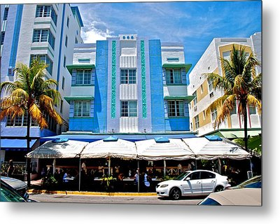 South Beach The Blue Section Metal Print by Eric Tressler