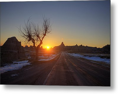 South Dakota Badlands Metal Print by Mark Duffy