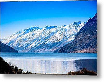 South Island Lake Wanaka New Zealand Metal Print by John White