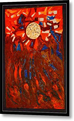 Space Abstraction-1 Metal Print by Anand Swaroop Manchiraju
