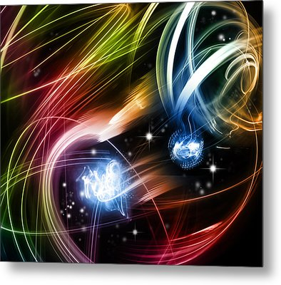 Space Metal Print by Les Cunliffe